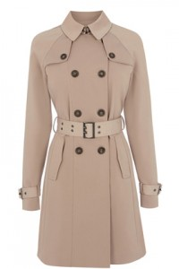 A midi-length trench is easily transferable from work to office drinks at the bar without looking too casual.