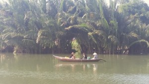 Boating on the Hoai river